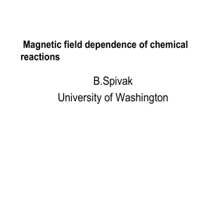 Magnetic-field dependence of chemical reactions