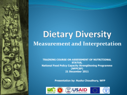 Assessment of Nutritional status (Lecture 8)