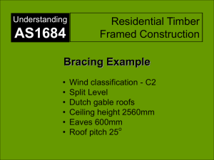 Residential timber framed construction