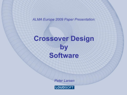 Peter Larsen, Crossover Design by software