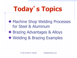 Brazing Metals - Metal Arts Press