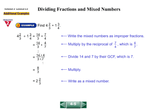 Dividing Fractions and Mixed Numbers (4