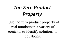 """Zero-Product Property"" Powerpoint"
