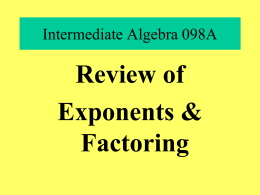 Intermediate Algebra Chapter 6