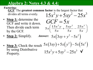 Alg2 Notes 4.3 and 4.4