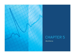 Chapter 5: Workforce  - American Hospital Association