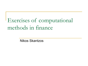 Exercises of computational methods in finance
