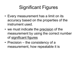 Significant Figures - Integrated Science