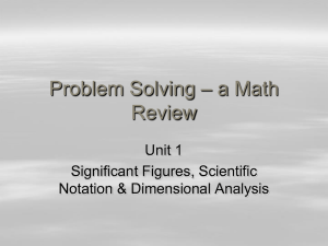 Math Review PPT