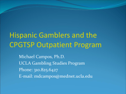 Acculturation and Gambling Among Hispanics