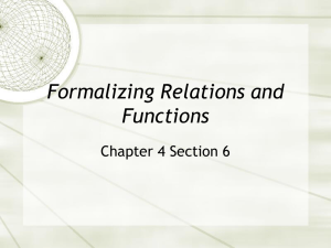 Formalizing Relations and Functions