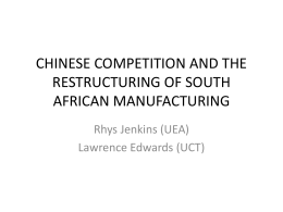 The Impact of China on South Africa