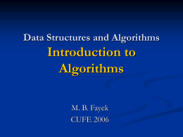 Algorithms Design and Analysis Ch1: Analysis Basics