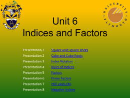 Unit 5 - Indices