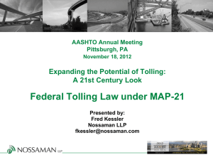 Federal Tolling Law under MAP-21