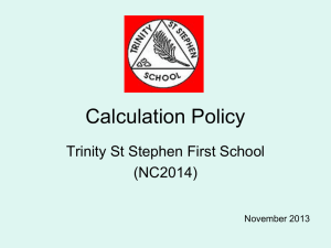 Click here to open 2013 Maths Calculation Policy Powerpoint