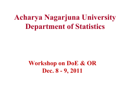 INDIAN STATISTICAL INSTITUTE Platinum Jubilee