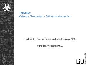 Tutorial: NS2