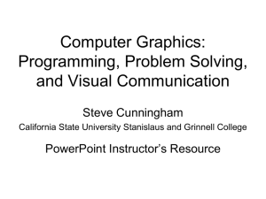 Computer Graphics - California State University Stanislaus