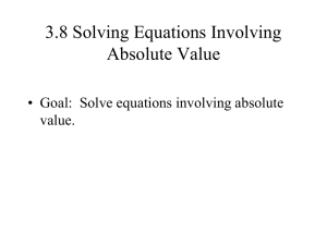 3_8 Absolute value Algebra A TROUT 09