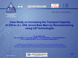 Case Study on Increasing the Transport Capacity of 220 kv