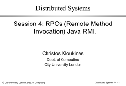 Distributed Systems - staff.city.ac.uk
