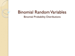 Binomial and geometric models