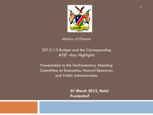 Budget 2012 – key highlights