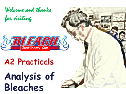 Analysis of Bleaches