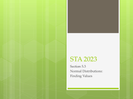 STA 2023 - Faculty
