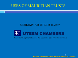 Trusts for Residents - the Uteem Chambers website