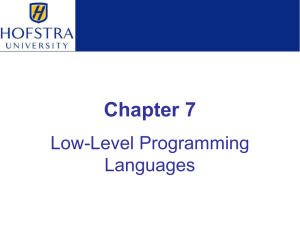 Chapter 7: Low-Level Programming Languages