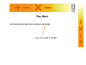 Pipe Music with Decimals