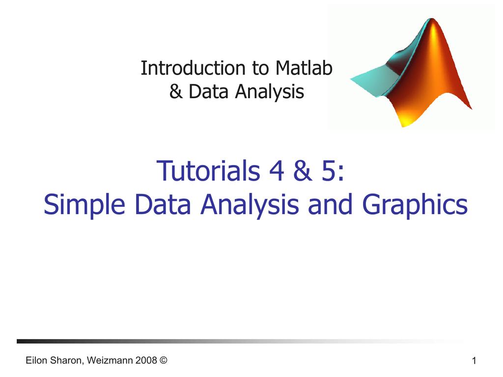 Introduction to Matlab & Data analysis