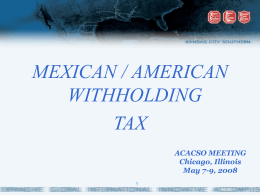 Mexican/American Withholding Tax