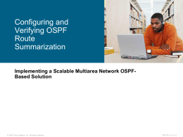 Configuring and Verifying OSPF Route Summarization