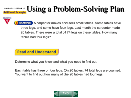 Using a Problem-Solving Plan(1