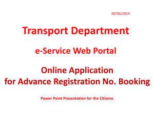 E-Services in Transport Portal