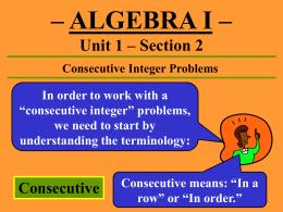 Integer homework help