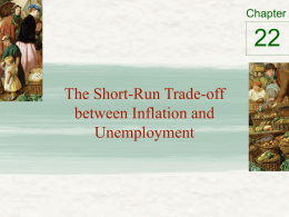 Phillip`s Curve, Unemployment and Inflation tradeoff