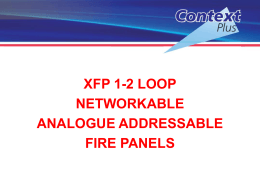 xfp 1-2 loop networkable analogue addressable fire panels