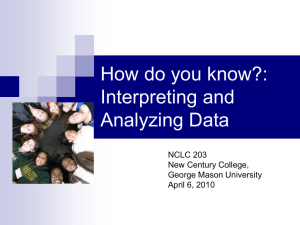 Interpreting and Analyzing Data