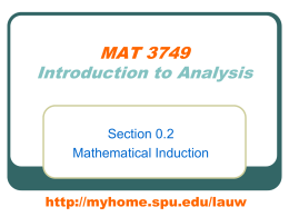 0.2 Mathematical Induction
