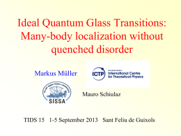 The ideal quantum glass transition