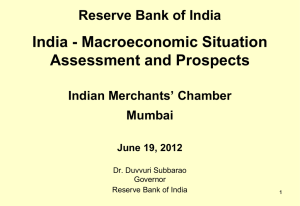 Reserve Bank of India India - Macroeconomic Situation Assessment