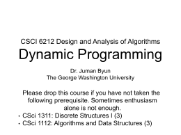 Slides (Dynamic Programming)