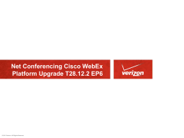 Verizon Net Conference Cisco WebEx Platform Upgrade