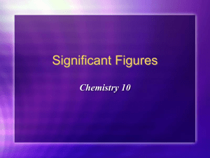Sig Fig Powerpoint