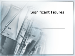 Significant Figures ppt