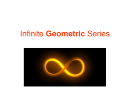 Infinite Geometric Series